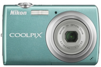 Aqua Green Nikon Coolpix S220 10MP Digital Camera:  $129.95 Delivered - $6 Drop