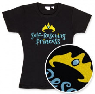 Self-Rescuing Princess T-Shirt:  $18.99 - We don't need no stinkin' prince!